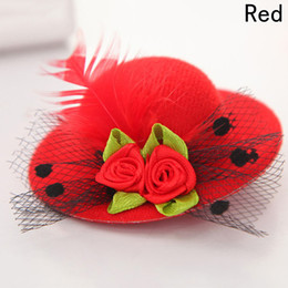 China HOT Cute Hat Hair Baby Girls Party Net yarn Shiny Hair Clip Children's Hat Headband Feathered Flowers Hair Accessories Hairpins 30pcs  cheap baby net headband suppliers