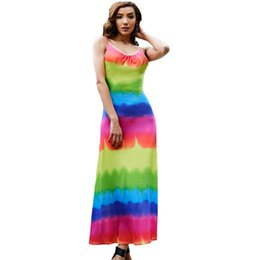 $enCountryForm.capitalKeyWord Canada - 2018 Summer Women Print Dress Modal Sleeveless Beach Dresses Sundress Casual Bodycon Long Maxi Dress Ankle Length Colorful Vestido