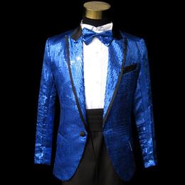 Horse Suit NZ - Blue Gangnam style bird tertiary stage performance Suit Horse riding dance singer Suit & Blazer plus size s-3xl
