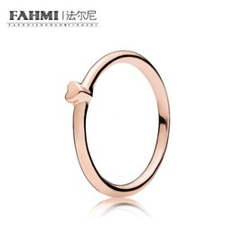 Puzzle Rose NZ - FAHMI 100% Sterling silver Glamour 186551 ROSE PUZZLE HEART RING Original Women wedding Fashion Jewelry 2018