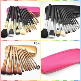 gift bags dhl shipping 2018 - Hot sales! Professional makeup brushes NUDE 12 Pieces makeup brush sett Kit +Leather bag 3 color DHL Free shipping+GIFT