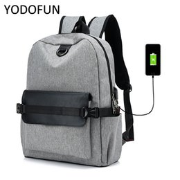 Wholesale Fashion student laptop backpack usb charging computer backpacks casual style bags high capacity travel school bag backpack