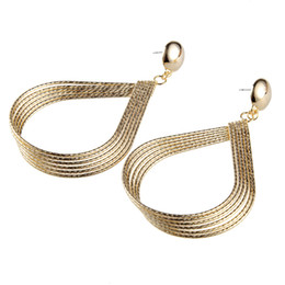 New Earring Models NZ - New coming hot sale model circle multilayer hoop earrings copper material creative fashion women jewelry earring wholesale
