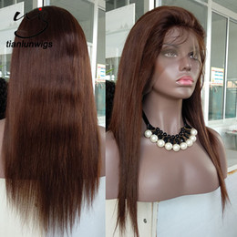 lace front wig human hair 28 Australia - 16 Inch Brazilian Virgin Human Hair Silky Straight Wave Style Full Lace Wigs 100% Natural Looking Indian Hair Lace Front Wigs in Stock