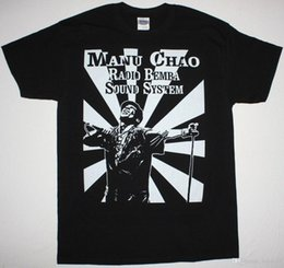 $enCountryForm.capitalKeyWord Australia - MANU CHAO RADIO BEMBA SOUND SYSTEM BLACK T-SHIRT MANO NEGRA SKA PUNK RADIOLINA Men T Shirt Great Quality Funny Man Cotton