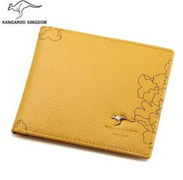 cartoon kangaroos NZ - KANGAROO KINGDOM luxury women wallets genuine leather slim bifold wallet brand lady small purse