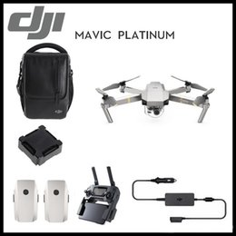 drone gps hd camera Canada - DJI Mavic Platinum 4K HD Camera Fly more Combo Folding FPV Drone With OcuSync Live View GPS GLONASS System RC Quadcopter Free Shipping