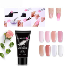 Chinese  30ml Clear Pink Jelly Polygel Quick Dry Building Gel UV Gel Builder DIY Manicure Nail Art Tips Finger Extension Camouflage manufacturers