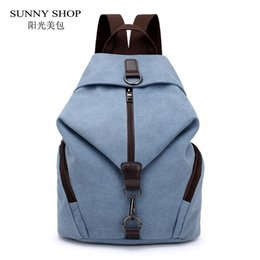 High Quality Backpack Brands Australia - SUNNY SHOP Vintage Women Canvas Backpack Brand High Quality Casual School Backpack For Girls Large Capacity Tavel Rucksack Grey