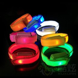 Glow Party Decorations Australia - New Fashion Event Party Concerts Bars Decoration LED Bracelets Flashing Wristband Glowing Bicycle Running Gear LX3531