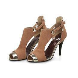Hot Grey Black Beige Womens Retro Hebilla Correa de tacón alto Peep Toe  Sandals Botines Zapatos FF-S522 US UK EUR Tamaño personalizado 6ba0dfc5ec84