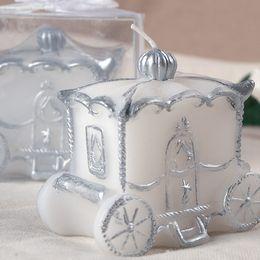 FEIS all'ingrosso Romantic Pumpkin carriage candle Compleanno candela cera Wedding Party Anniversary San Valentino favorisce il favore di nozze in Offerta