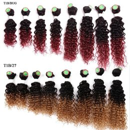 $enCountryForm.capitalKeyWord Australia - unprocessed soft kinky curly natural hair kinky curly 8 bundles per pack Water wave hair extensions ombre braiding hair uk free shipping