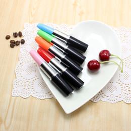 glow pens 2019 - 1 * Creative Glowing Ballpoint Pen Lipstick Modeling LED Light Pen Student Reward Gift Office Promotion Supplies discoun