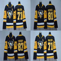 32e08edb4 Cheap 2017 2018 New Brand Ad Youth Pittsburgh Penguins 87 Sidney Crosby 71  Evgeni Malkin 81 Phil Kessel Kids Black Ice Hockey Jerseys