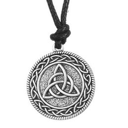 Chinese  lemegeton Punk Knotwork Triquetra Trinity Fashion Rope Ethnic Necklace Women Vintage Accessories Pendant Wicca Pagan Jewelry manufacturers