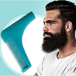 Wholesale 10 COLORS Hot Cheap Beard Bro Shaping Tool Styling Template BEARD SHAPER Comb for Template Beard Modelling Tools With Package