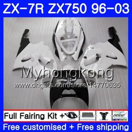 1999 Kawasaki Zx7r NZ - Gloss white top Body For KAWASAKI NINJA ZX 7R ZX750 ZX7R 96 97 98 99 203HM.23 ZX-750 ZX 7 R ZX 750 ZX-7R 1996 1997 1998 1999 2003 Fairing
