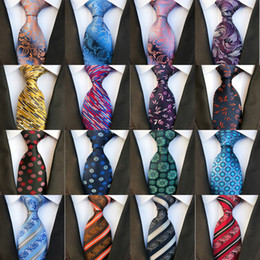 Solid blue green necktie online shopping - New Styles cm Fashion Men Ties Silk Tie Mens Neck Ties Handmade Wedding Party Gold Paisley Necktie British Style Business Ties Stripe