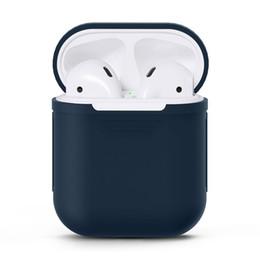 Großhandel Bluetooth Headsets Ohrhörer Voller Schutzhülle für Apple AirPods Drahtloser Bluetooth Kopfhörer Ohrhörer Ohrhörer mit Ladebox