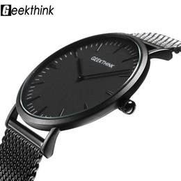 85795b392924 Top Brand Luxury Quartz Watch hombres Casual Negro Japón reloj de cuarzo  reloj de acero inoxidable de madera Ultra ultra delgado reloj masculino  Relogio ...