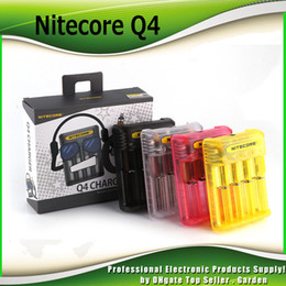 E Cig Batteries Imr NZ - Authentic Nitecore Q4 4-Slot 2A Quick Charger Intellicharger Universal E Cig Chargers For 18650 26650 20700 IMR Li-ion Battery 100% Genuine