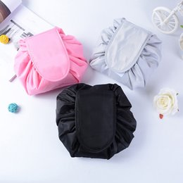 $enCountryForm.capitalKeyWord Canada - Lazy Cosmetic Bag Large Capacity Portable Drawstring Makeup Storage Artifact Magic Travel Pouch Make Up Beauty WKit