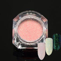 Glitter Nail Art Designs NZ - 1pcs Pearlescent Nail Art Dust Glitter Sugar Holographic Designs Shinning Nail Glitter Powder Manicure Decoration SA368