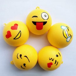 Stretchy toyS online shopping - 2018 Emoji Squishy Squeeze Stretchy Bread cm Slow Rising Phone Charms Kawaii Cute Handbag Pendant Keychain Toys Gift for Kids