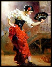 pino paintings 2019 - High Quality Pino Daeni Spanish Dancer Handpainted & HD Print Impressionist Art oil painting,Home Decor Wall Art On Canv