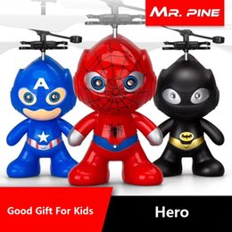 wholesale plastic minions Australia - drone RC Helicopter Aircraft Mini drone Fly Flashing helicopter Hand Control RC Toys Minion Quadcopter Dron LED Kids Toys (Super Series)