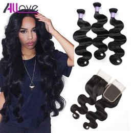 Great hair weaves online shopping - Indian Virgin Hair Wefts A Great Quality Human Hair Weave Peruvian Body Wave Straight Bundles With Closure Cheap Brazilian Hair