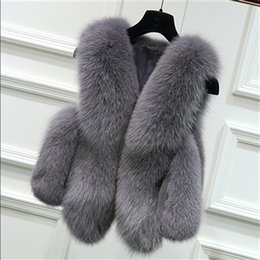 $enCountryForm.capitalKeyWord Australia - New Arrival 2018 Winter Warm Fashion Brand Women Faux Fur Vest Faux Fur Coat Fox Vest Colete Feminino Plus Size Short Coat