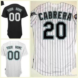 299d0f04e Custom Florida Jerseys 20 Miguel Cabrera 61 Livan Hernandez 2 Hanley Ramirez  35 Dontrelle Willis Mike Lowell Baseball Jersey S-XXXXL