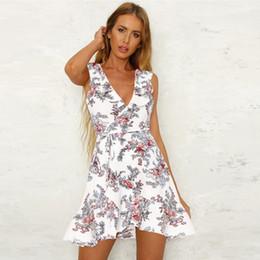 94cd33ec1 Mulheres 2018 verão estilo quente novo design império vestido ruffle moda  encantadora impressão floral frete grátis