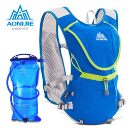 blue water sports 2018 - AONIJIE 8L Outdoor Sport Running Backpack Marathon Trail Running Hydration Vest Pack for 1.5L Water Bag Cycling Hiking B