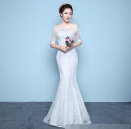 $enCountryForm.capitalKeyWord NZ - mermaid Wedding Dress beautiful lace flowers vestidos de noiva robe de mariage bridal dress Free shipping