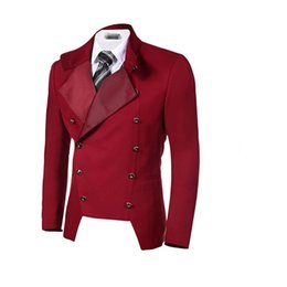 China Stylish suits coat jacket lapel double breasted jacket custom size and color of the leisure business supplier double breasted jacket green men suppliers