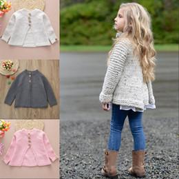 $enCountryForm.capitalKeyWord NZ - Adorable Kids Girls Long Sleeve Cloak Sweaters Knitwear Coat Autumn Sweet Girls Kint Loose Buttons Jacket Clothes Outfit