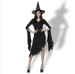 New Design Fashion Adult Womens Ladies Sexy Vampire Witch Dress Halloween  Long Sleeve Cosplay Party Costume PS082 fb15f970c698