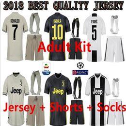 adult kit 18 19 Juventus Soccer Jersey 2018 Ronaldo Cuadrado CR7 9 HIGUAIN  10 DYBALA 11 D. Costa 17 MANDZUKIC Football Shirt 8380fccd2
