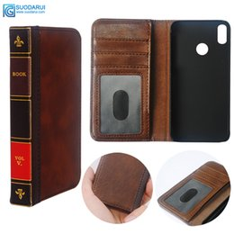 Z1 Wallet Cases Australia - Flip Leather cell Phone Case for Vivo Z1 Lite Cover Wallet Retro Bible Vintage Book Business Pouch