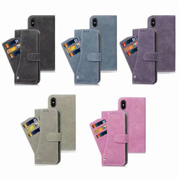Discount multifunction phone holder - Multifunction Matte Wallet Leather Case For Iphone 11 Pro XR XS MAX X 8 Galaxy S10 S10e Plus Note 9 S9 9 Card Slot Holde