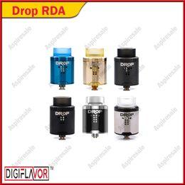 Post locks online shopping - Digiflavor DROP RDA Tank Large Post Holes Stepped Airflow Design Deep Space Locking Top Cap Standard Edition Original