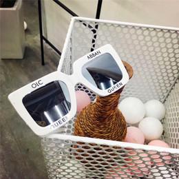 Discount titanium eyewear - New fashion designer sunglasses 4328 square letters frame avant-garde popular selling style top quality uv400 lenses pro