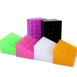 Office bOxes online shopping - Modern Plastic Display Holder Trapezoid Shape Grid Jewelry Lipstick Storage Boxes Colorful Household Desktop Organizer Fashion lj B