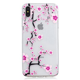 973285acff5 Flower Relief Soft TPU Funda para Iphone XR XS MAX Silicona Elefante  Dreamcatcher Panda Owl Feather Unicorn Cell Phone Fundas de silicona Moda