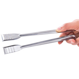 $enCountryForm.capitalKeyWord UK - 2pcs set Stainless Steel Food Tongs Kitchen Utensils Gadgets Bbq Meat Cooking Serving Tong