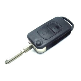 $enCountryForm.capitalKeyWord UK - Car Style 2 Button Flip Folding Key Shell Case Entry Remote Key Cover Replacement for Mercedes Benz A C E S