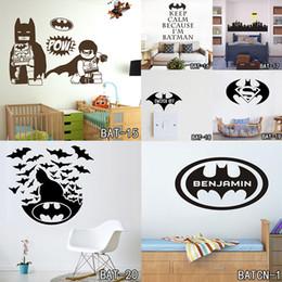 Wall Stickers Name Australia - tickers home decor Batman Customized Name Wall Stickers Home Decor Bat Personalised Super Hero Vinyl Decal Mural Wallpaper Graphic for Bo...